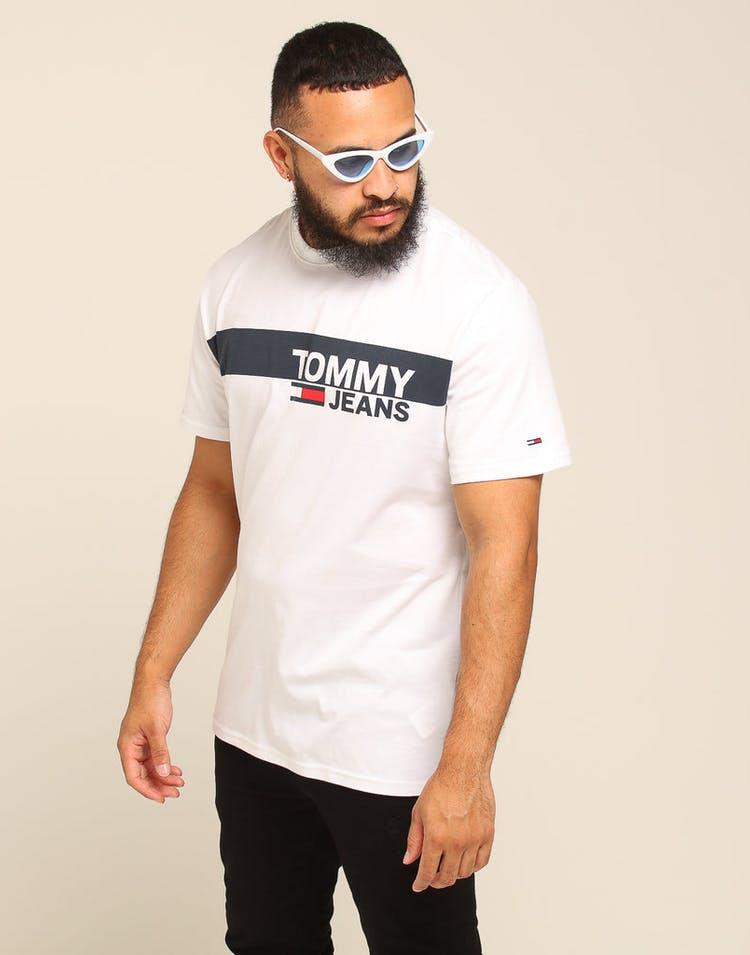 aanbod dichterbij nieuwe release Tommy Jeans TJM Essential Box Logo Tee Classic White