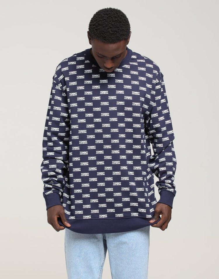 ff16d47a3 Tommy Jeans TJM Multi Logo Crew Black Iris – Culture Kings
