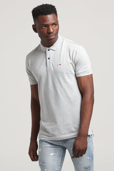 Tommy Jeans TJM Tommy Classics Solid Polo Light Grey Heather