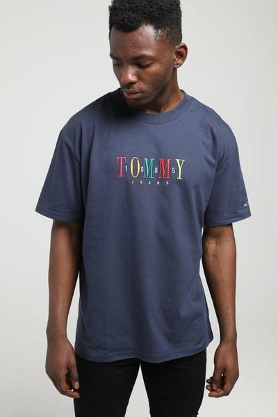 4d7217de Tommy Jeans TJM Tommy 85 Shortsleeve Tee Black Iris/Blue