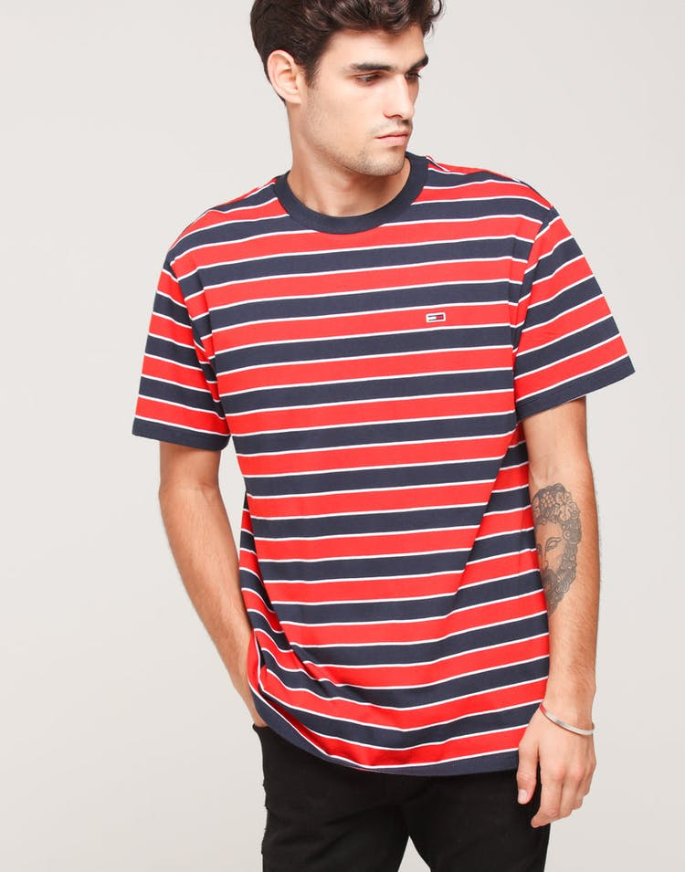 8fe23c51 Tommy Jeans TJM Bold Stripe Tee Scarlet/Multi – Culture Kings