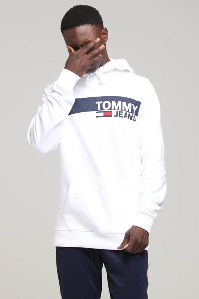 605909eb Tommy Jeans TJM Essential Graphic Hoodie Classic White