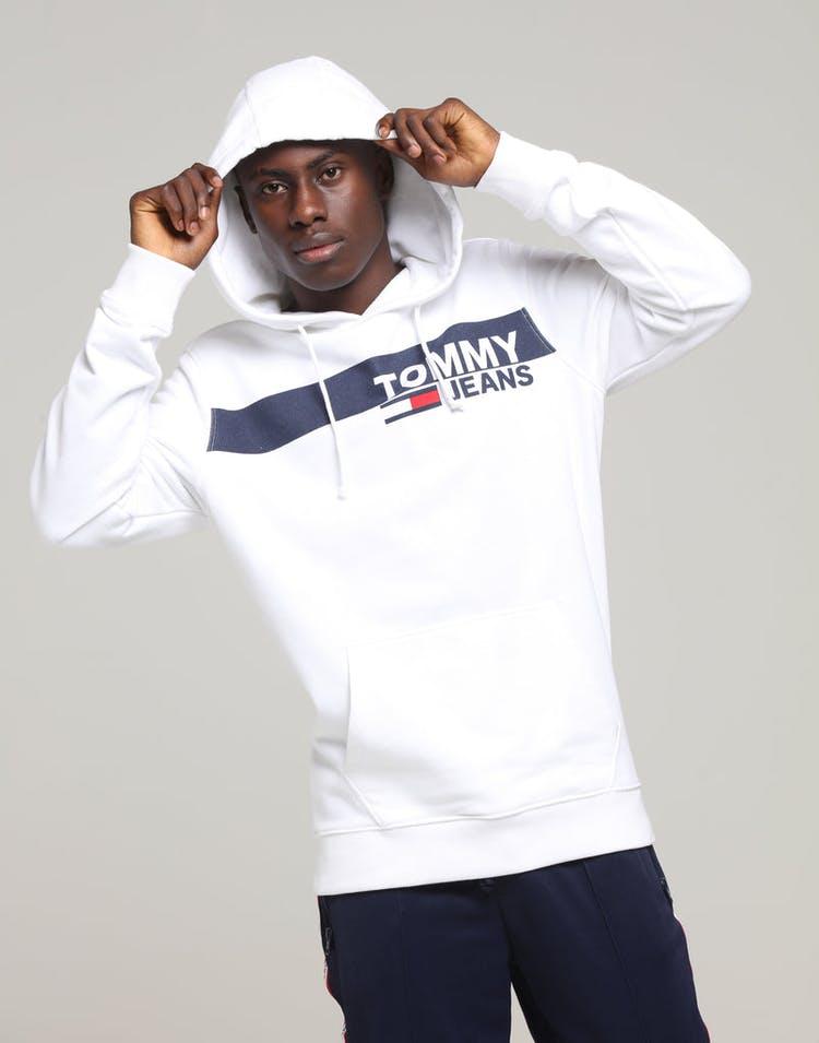 50% korting goede service klassieke stijlen Tommy Jeans TJM Essential Graphic Hoodie Classic White