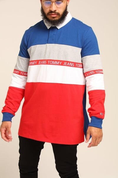 Tommy Jeans TJM Colorblock Rugby Blue/Multi-colored