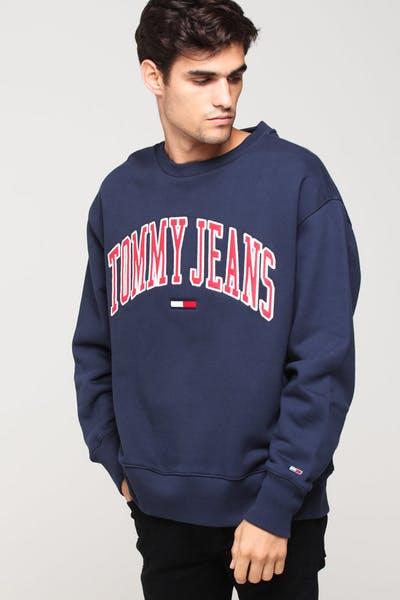8e9fb425 Tommy Jeans TJM Clean Collegiate Crew Black Iris
