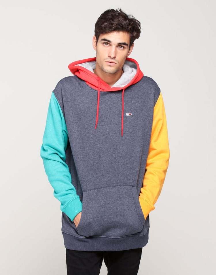c6ee677c Tommy Jeans TJM Colorblock Hoodie Black Iris/Multi – Culture Kings