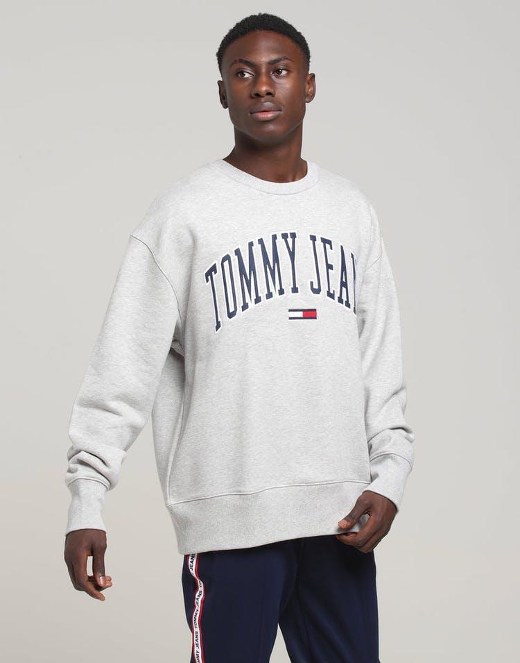 1204de20 Tommy Jeans TJM Clean Collegiate Crew Light Grey Heat – Culture Kings