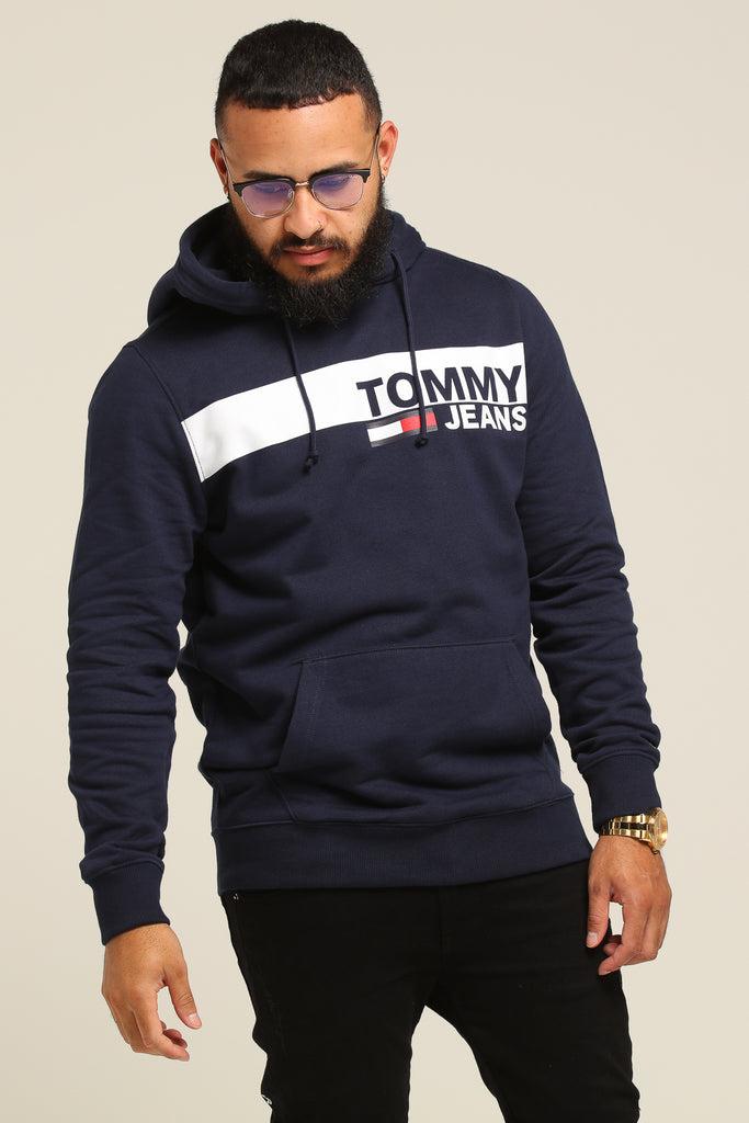 Tommy Essential Graphic Iris Black Jeans Tjm Hoodie HeEW29IDY