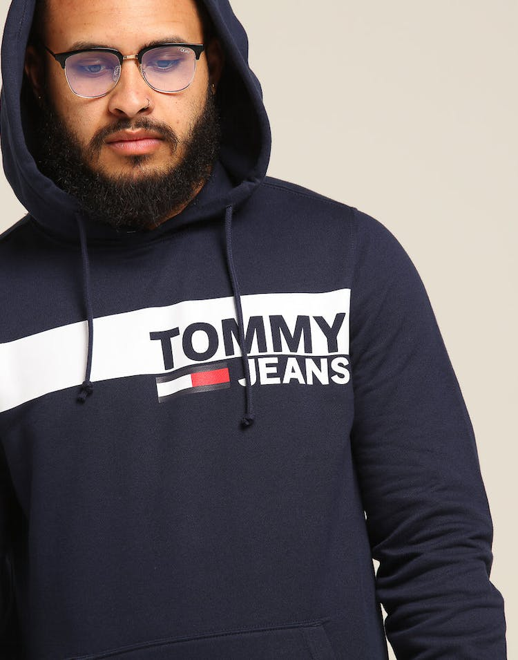 f9dfe105 Tommy Jeans TJM Essential Graphic Hoodie Black Iris – Culture Kings