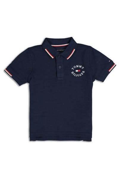 Tommy Jeans Kids Badge Polo Black Iris