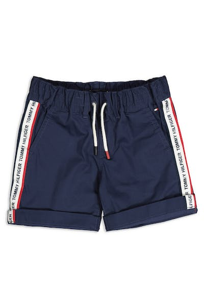 Tommy Jeans Kids Hilfiger Tape Chino Short Black Iris