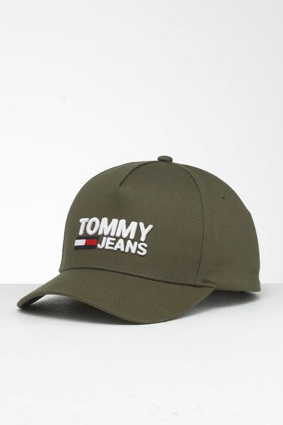 a991d096f Tommy Jeans TJM Logo Snapnback Cap Olive Green ...