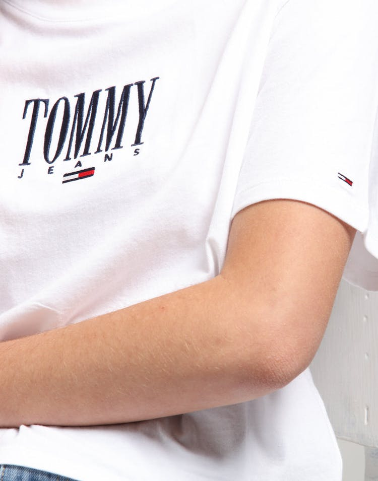 Tommy Jeans Women's TJW Embroidery Graphic Tee Classic White
