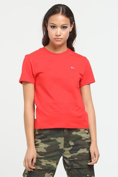 Tommy Jeans Women's TJW Tommy Classics Tee Flame Scarlet