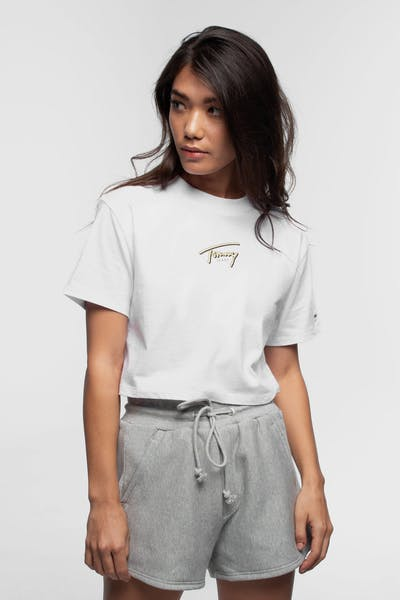 TOMMY JEANS WOMEN'S SUMMER RETRO TEE CLASSIC WHITE