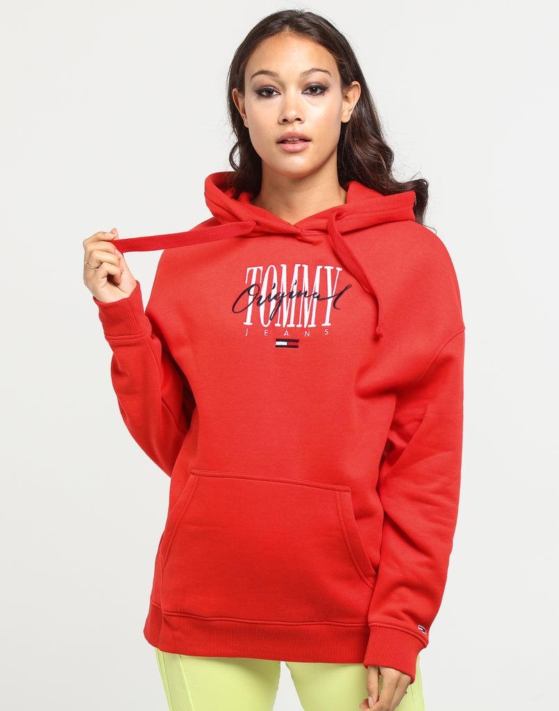 Tommy Jeans Women's TJW Modern Logo Hoodie Flame Scarlet