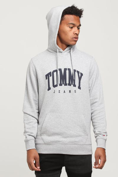 Tommy Jeans TJM Essential Tommy Hoodie Light Grey Heather