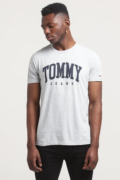 Tommy Jeans TJM Essential Logo Tee Light Grey Heather