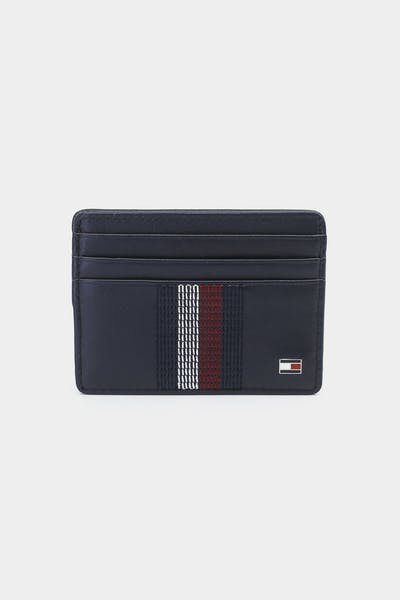 Tommy Hilfiger Stitched Leather CC Holder Sky Captain