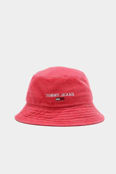 Tommy Jeans Womens TJW Sports Corduroy Bucket Claret Red