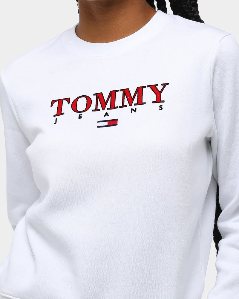 Tommy Jeans Women's TJW Essential Logo Sweater Classic White