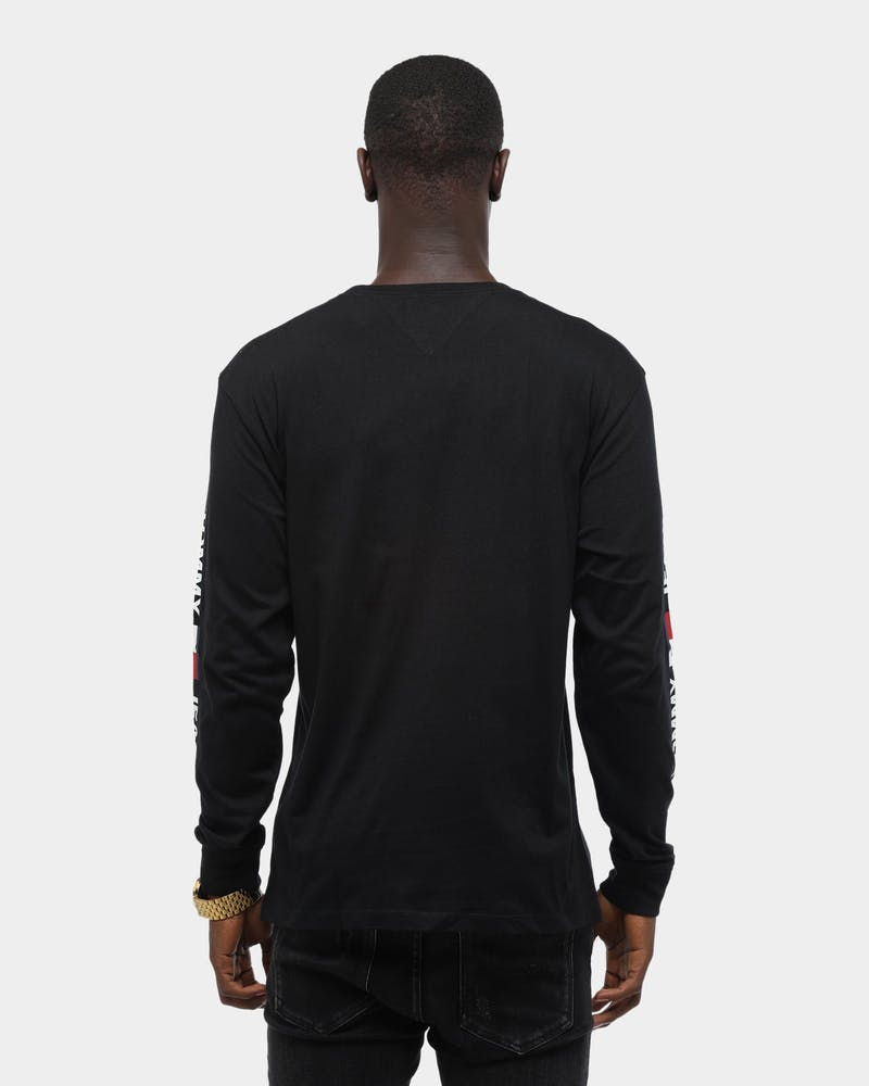 Tommy Jeans Men's TJM Corp Long sleeve T-Shirt Tommy Black
