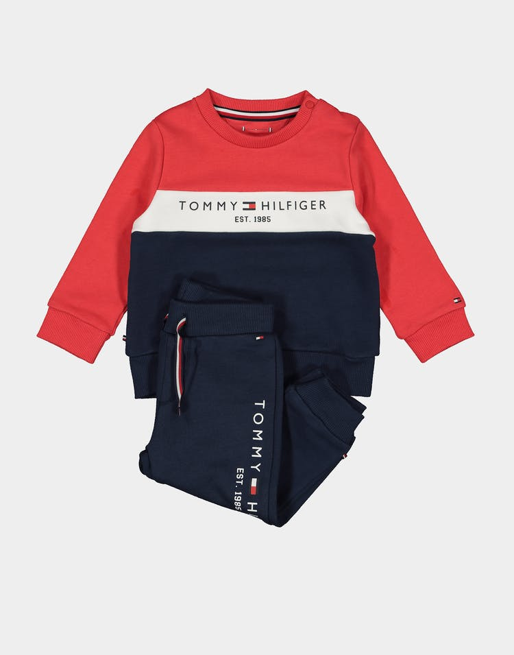 Baby Colourblock Tracksuit Set Black Iris