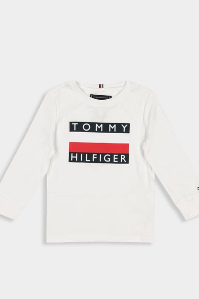 Tommy Jeans Kids Essential Hilfiger LS Tee Bright White
