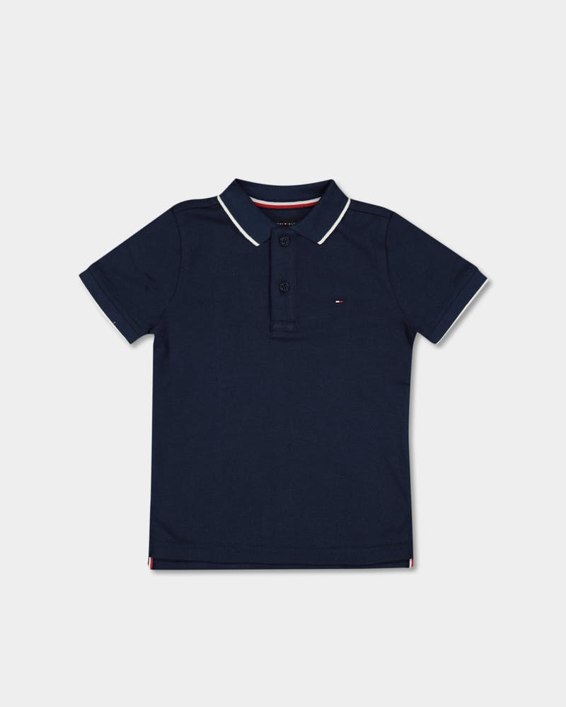 Tommy Jeans Kids Back Shield Emb Polo S/S Black Iris