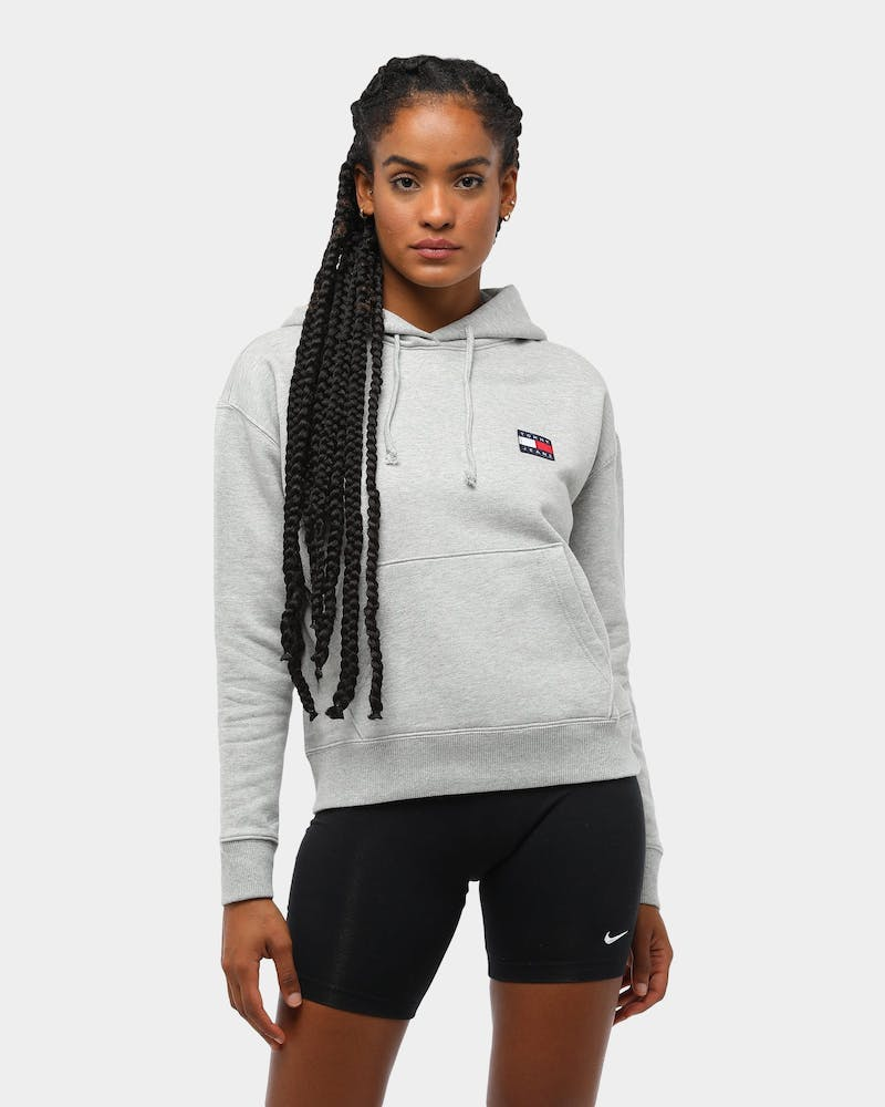 Tommy Jeans Women's TJW Tommy Badge Hoodie 2.0 Light Grey Heather