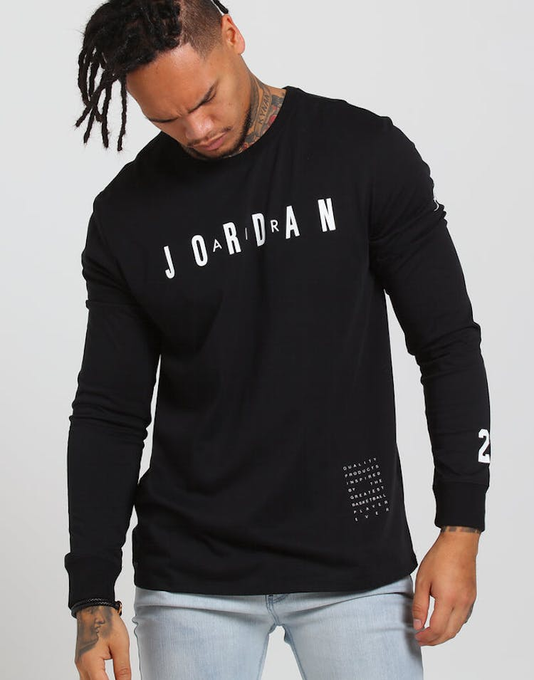 hot sale online 94453 87a44 Jordan M JBSK LS Tee HO 1 Black White – Culture Kings