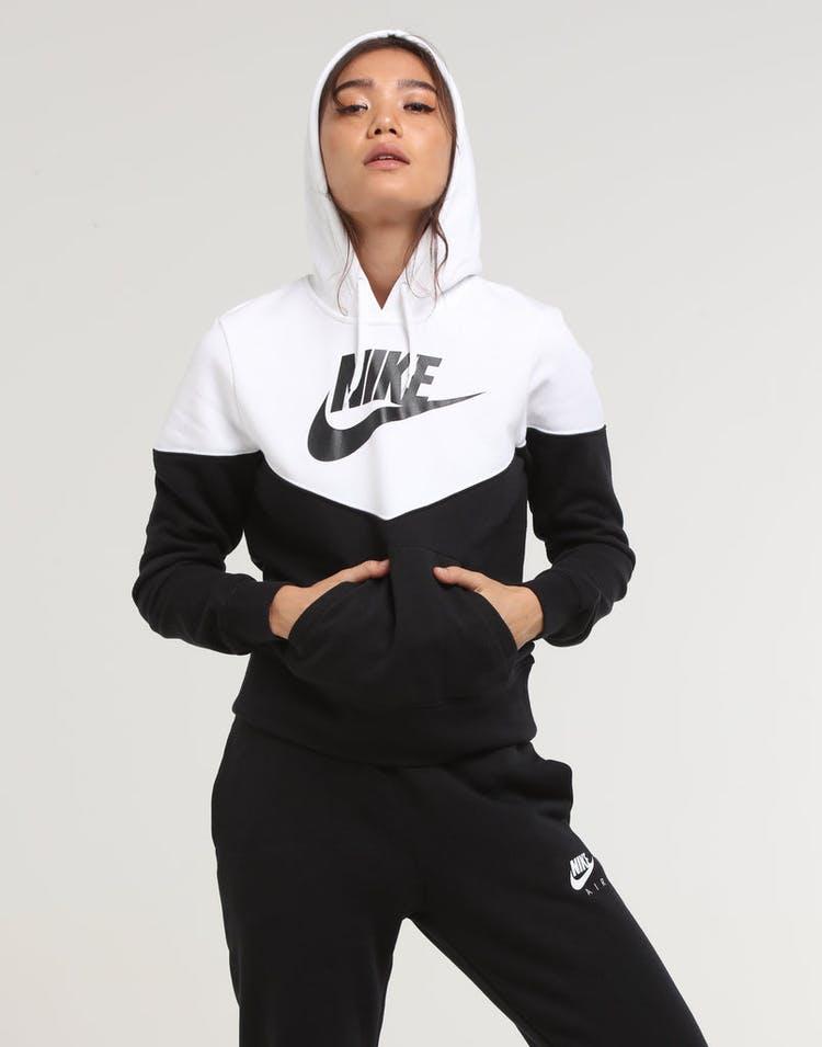 4754b19f3 Nike Women's NSW Heritage Fleece Hoodie Black/White/Black – Culture Kings