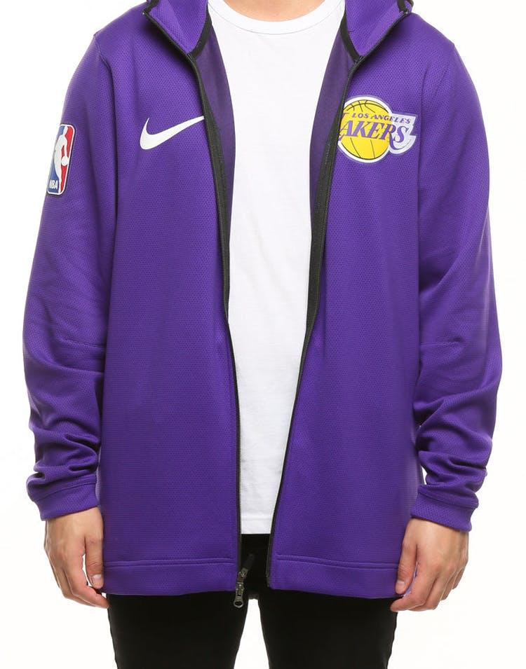 2946d42a8 Los Angeles Lakers Nike Therma Flex Showtime Hood Purple/Black/White –  Culture Kings