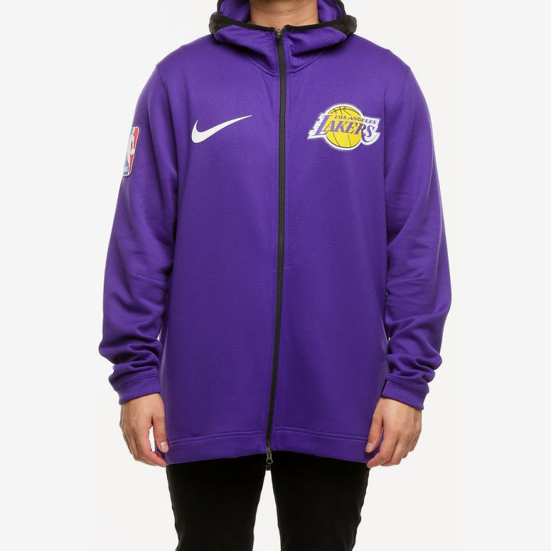 Los Angeles Lakers Nike Therma Flex Showtime Hood Purple Black White ... 5282384f5