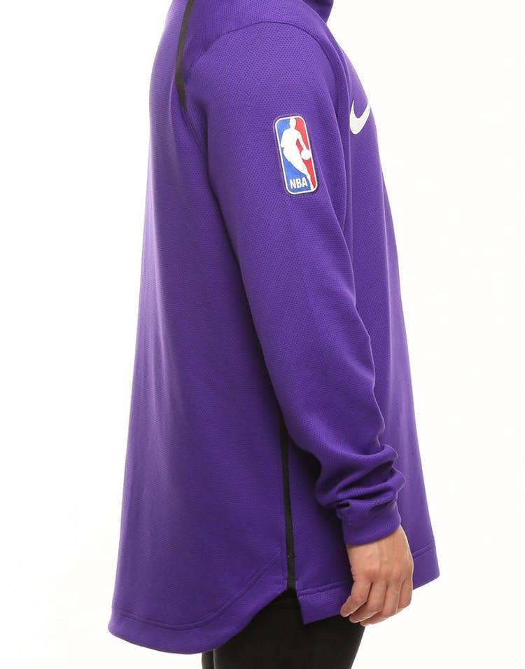 854f1756 Los Angeles Lakers Nike Therma Flex Showtime Hood Purple/Black/White ...