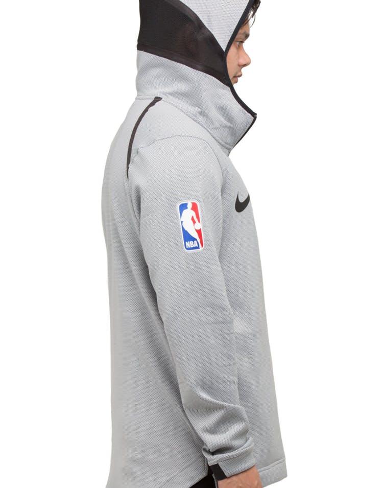 8cc6affcf0b San Antonio Spurs Nike Therma Flex Showtime Hood Silver/Black/Black ...