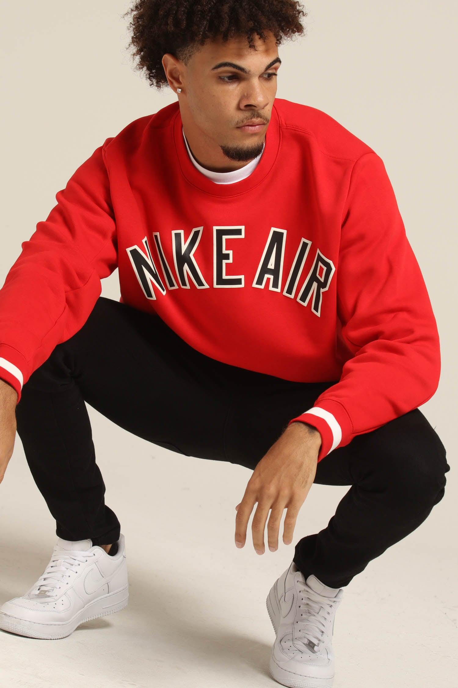 Air Sweatshirt BlackUniversity Red