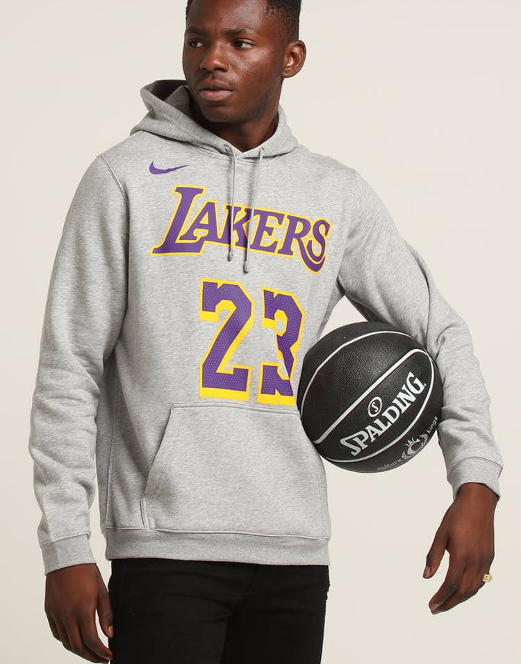 d10c5a4e5719 Nike Los Angeles Lakers LeBron James  23 Hood Dark Grey Heather – Culture  Kings