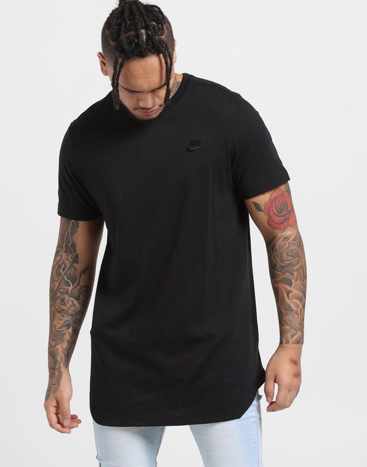 reputable site 616b9 78d59 Nike NSW ALT HEM Futura LBR Tee Black Black – Culture Kings