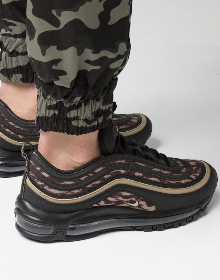 outlet store 23418 c89ff Nike Air Max 97 AOP Black/Khaki/Brown