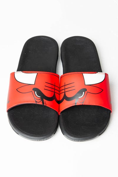 Nike Benassi Solarsoft NBA Slides Red/White/Black