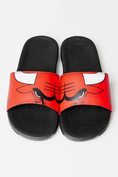 d7a6994fca18 Nike Benassi Solarsoft NBA Slides Red White Black