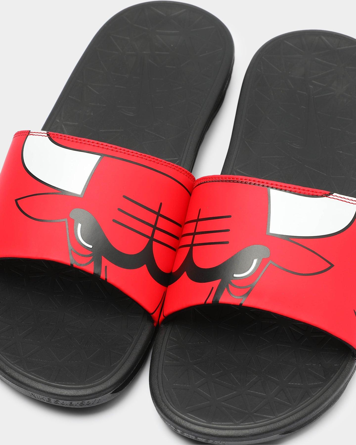 Nike Benassi Solarsoft NBA Slides RedWhiteBlack