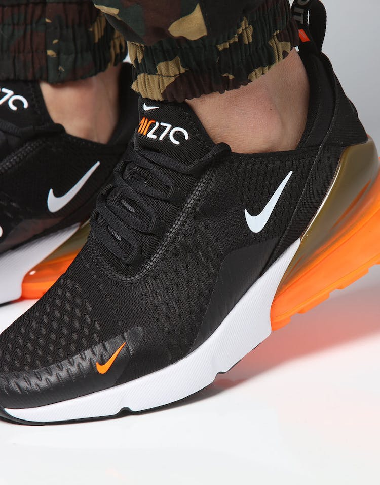 new arrival e34ec 94719 Nike Air Max 270 Black/White/Orange
