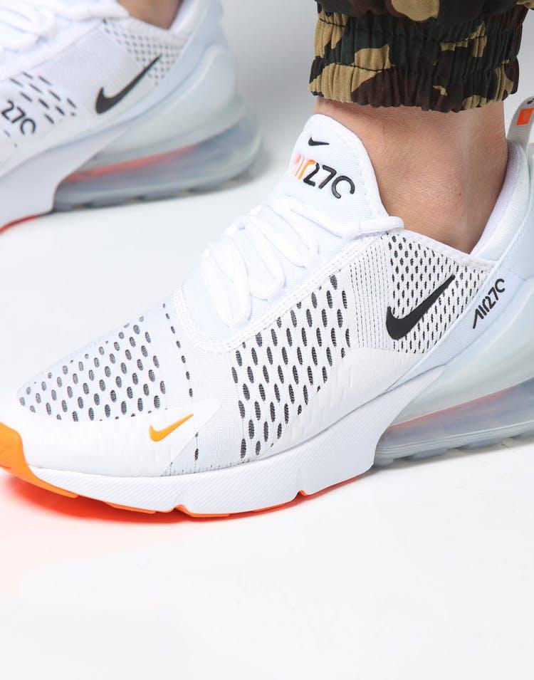 sale retailer 1fb27 96a28 Nike Air Max 270 White Black Orange – Culture Kings