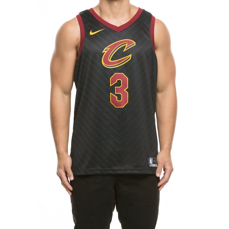 new concept 4aefb 421d7 Nike Cleveland Cavaliers #3 Isaiah Thomas Alternate Swingman Jersey  Black/Red/Gold