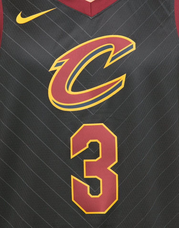 bf742d15c20 Nike Cleveland Cavaliers #3 Isaiah Thomas Alternate Swingman Jersey Black /Red/Gold