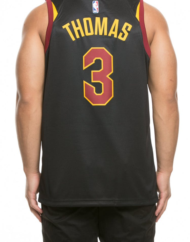 new concept 2ad69 05e37 Nike Cleveland Cavaliers #3 Isaiah Thomas Alternate Swingman Jersey  Black/Red/Gold