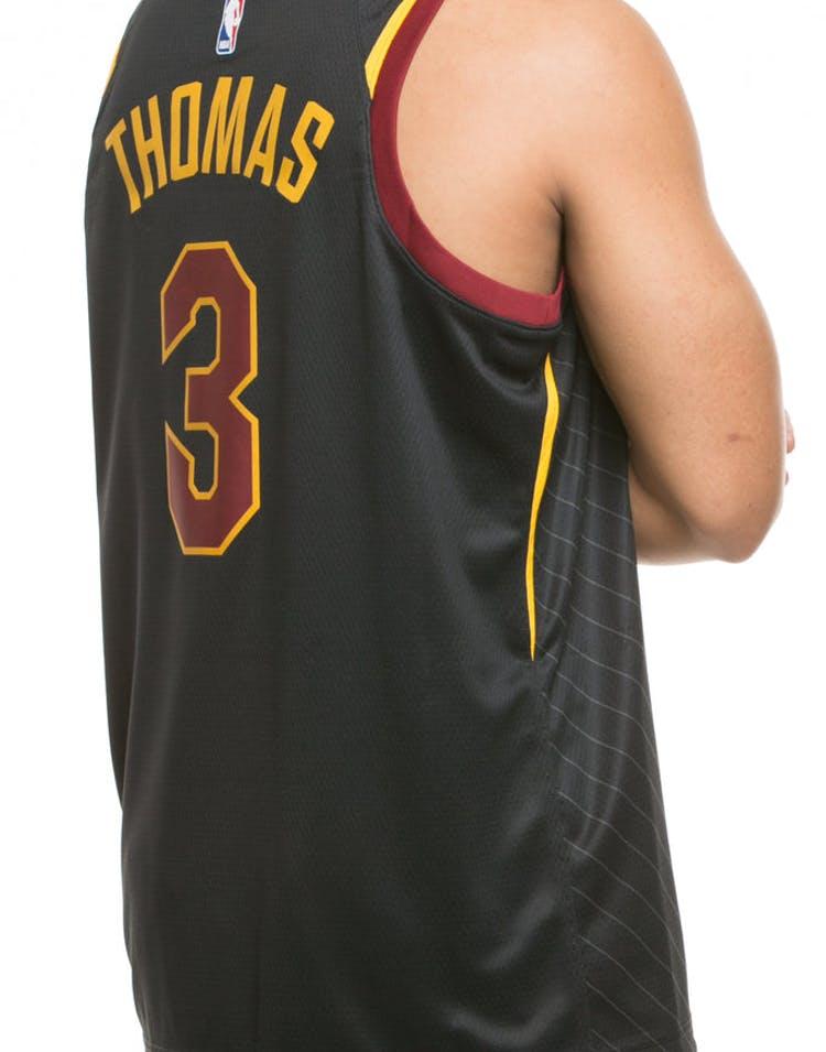e40b35b340c Nike Cleveland Cavaliers #3 Isaiah Thomas Alternate Swingman Jersey Black/ Red/Gold