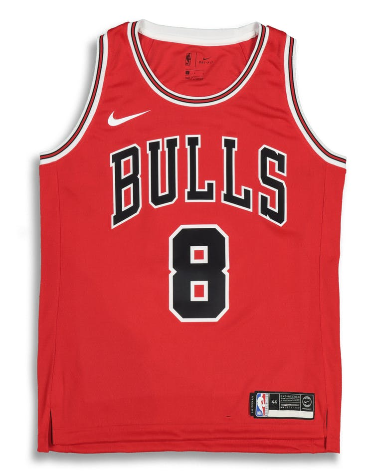 more photos 6bd97 9a6a1 Nike Women s Chicago Bulls Zach LaVine  8 Icon Edition NBA Jersey Red White